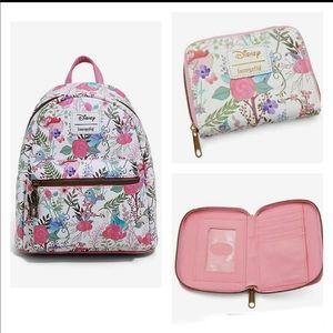 Loungefly Sleeping Beauty backpack & wallet